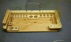 Mike Elrod / Pine fly tying bench. I build and sale