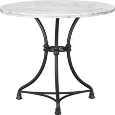 French Kitchen Bistro Table in Dining Tables | Crate&Barrel