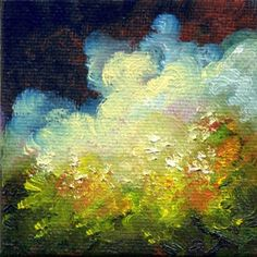 Secret Garden, Landscape, Garden Oil Painting, Miniature Art by Marina Petro, painting by artist Marina Petro
