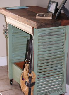 (8) Hometalk :: Shutter Island...What a Great Idea for reusing shutters!  I want to make one for my entryway hall and maybe one as an end-table!  xo <3