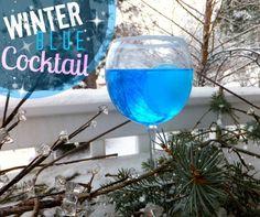 Winter Blue Cocktail