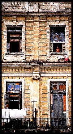 Windows in Old Havana, Cuba.  Nikon FE Tokina 70-200mm