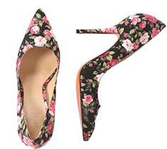 Rose print heels