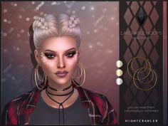 NEW MESH Found in TSR Category 'Sims 4 Female Earrings'