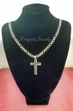 Men's 2 Pc. 316L Stainless Steel Cross Pendant by ForsgateJewelry, $30.00