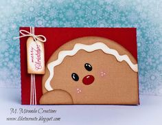 """M. Miranda Creations: Guest Designing for My Craft Spot - Christmas Inspiration -  2 1/2"""" X 3 3/4"""" Gift Card Holder"""