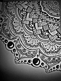 Zentangle#flower#pen#black
