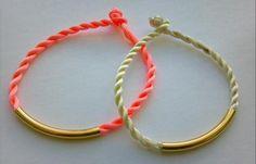 Spring Trend NEON PASTEL Twisted Cord Friendship Bracelet