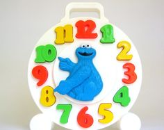 Couldn't resist. Ordered this for the young mister. vintage 1982 cookie monster clock