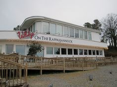 Willaby's Restaurant, on the water in White Stone, VA  while visiting Bill and Betty Button