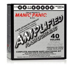 - Manic Panic Flash Lightning Bleach Kit is designed for pre-lightening the hair before application of the Manic Panic semi-permanent hair colors to get the most intense color. - Everything you need t