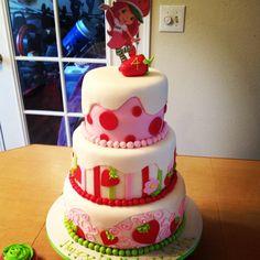 Strawberry Shortcake Cake Strawberry Shortcake Birthday, Birthday Cakes, Baking, Desserts, Food, Strawberry Fruit, Pies, Tailgate Desserts, Deserts