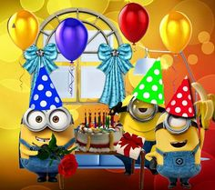 Search free wallpapers, ringtones and notifications on Zedge and personalize your phone to suit you. Happy Birthday Emoji, Happy Birthday Images, Happy Birthday Greetings, Birthday Pictures, Birthday Greeting Cards, 2nd Birthday, Minions Funny Images, Minions Quotes, Funny Minion