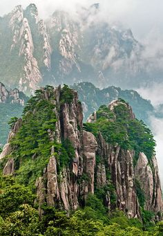 Mount Huangshan in the yellow-Mountains in Anhui province, China
