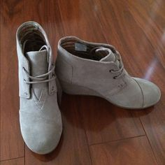 30% off TOMS Wedge Bootie Brand new. Never used. No box TOMS Shoes Ankle Boots & Booties