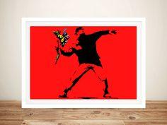Banksy Stencil, Banksy Wall Art, Banksy Artwork, Graffiti Art, Banksy Canvas Prints, Wall Art Prints, Framed Prints, Information Art, Red Wall Art
