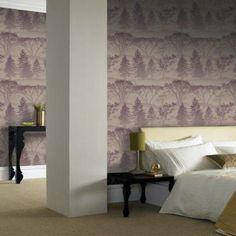 Damson Plum - 50-203 - Mirage - Tree - Forest - Woods - Graham & Brown Wallpaper