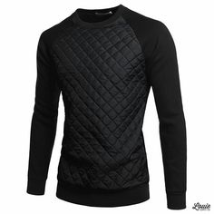 Male Appeal... Thoughts?  How would you rock?  Be An Icon!  @bestofmenstyle Front Quilting Crewneck Sweater Shop at www.louiesupply.com