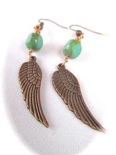 Metaphysical Healing Earrings Arch Angel Michael by ShellsBeadwear