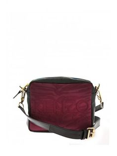 b3ab2725bd63a KENZO Kenzo Leather And Fabric Bag.  kenzo  bags  shoulder bags  leather