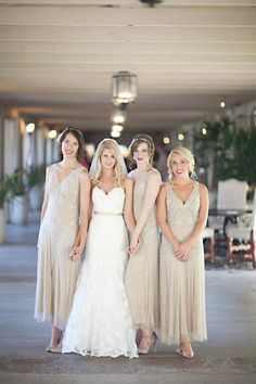 1920s Themed Bridesmaid Dresses