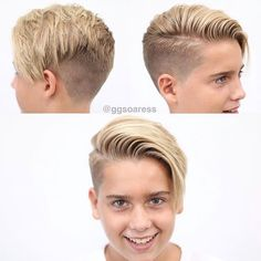 Shorter haircuts are especially common for men, because they are very easy to manage, don't require much maintenance, have very stylish looks, and are suitable for most any situation. Boy Haircuts Long, Hairstyles Haircuts, Haircuts For Men, Hair And Beard Styles, Short Hair Styles, Boys Haircut Styles, Asymmetrical Hairstyles, Long Hair Cuts, Fade Haircut