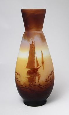 Gallé (Galle), Nautical Vase