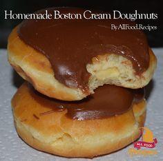 Homemade Boston Cream Doughnuts