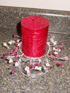 Newest bead project - candle ring for valentines