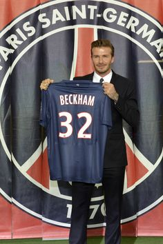 Famous English football player David Beckham joins French football team, Paris Saint-Germain. His contract runs until June 30th 2013. Beckham won the Champions League in 1999 and the same year was voted UEFA Player of the Year. He also won six English Premier League titles, a Spanish Liga crown and two MLS Cups. Beckham is the second-most capped player in English football history, David joins the sixth footbal club if his career in his fifth different championship. Mls Cup, Football Images, English Premier League, Paris Saint, Saint Germain, David Beckham, Champions League, My Sister, Football Players