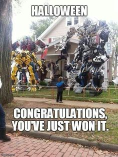 Transformers Halloween decoration ideas.