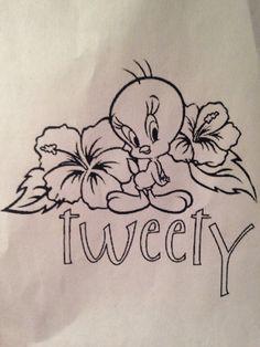 Tweety tattoo idea