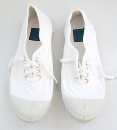 White Bensimon Sneakers. Would complete a nice casual neat look for summer