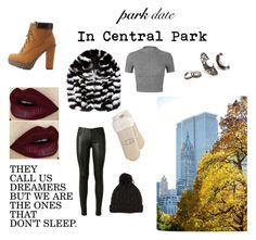 """""""Autumn Date in Central Park"""" by linnea-tore ❤ liked on Polyvore featuring ColoredPrints, Charlotte Russe, Yves Saint Laurent, Miss Selfridge and UGG Australia"""