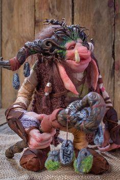 ooak polymer clay fantasy creature goblin