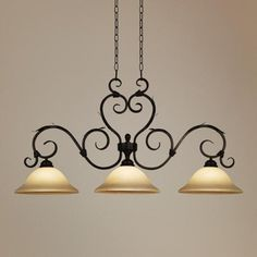 Vicosa Collection Three Light Island Style Chandelier -