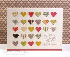 Lookit all the hearts!!!! I'm a huge fan of her cards...this one is so, so cute and I hope its as easy at it looks to lift.....lol