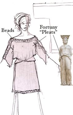 chiton ancient greek dress - possible dress design for the Hades costume - Halloween 2014