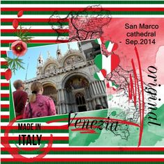 Here my pages made with your loving HSA_TravelToItaly , thanks Eileen lo 2 - July-Aug. 2016 Travel to Italy  Pict. my own , we had a vacation in Italy in Sept. 2014 shadowed a bit word art is in the kit font - Terminal