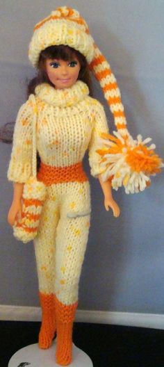 Ladyfingers - Barbie - One-Piece Ski Outfit ~ FREE - KNIT