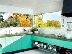 seafoam cabinets