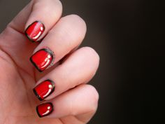 Toxic Vanity: Día 1 : Rojo / Pop Art nails