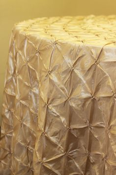 """Cake and sweetheart table 120"""" Pinchwheel Tablecloth - Champagne"""