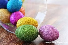 Glitter Easter eggs for kids - if I ever have a girl, I will finally have an excuse for this! :))