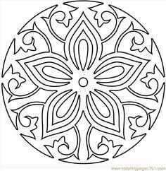 Mandala Coloring Pages PDF | free printable coloring page Mandala7 (Cartoons > Miscellaneous)