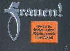 Original Plakat Lucian Bernhard Frauen 1919