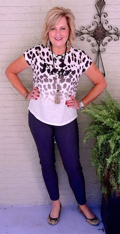 50 IS NOT OLD | FIERCE AT FIFTY | Leopard Print | Ponte Pants | Fashions over 40 for the everyday woman
