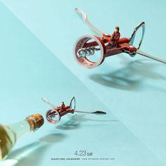 """. 4.23 sat """" Lock on! """" . 「ターゲット、ロックオン!」 . #戦闘機 #ワインオープナー #Fighter #WineOpener . ーーーーーーーーー #写真集第2弾発売中 #MiniatureLife2 #ミニチュアライフ2 #ネットで購入はプロフィールのURLから ."""