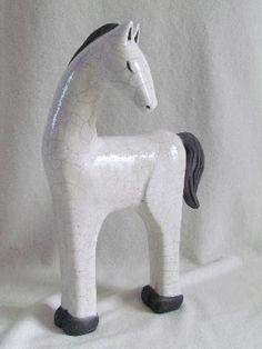sculpture originale raku animaux cheval céramique grès Danièle Meyer (