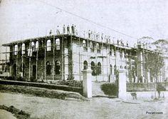 COLÉGIO BATISTA BRASILEIRO  Construção, no bairro de Perdizes, do prédio do Colégio Batista Brasileiro, por volta de 1923.  O colégio foi fundado em 1902 por missionários americanos.  Foto do pozati.com
